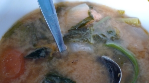 miso soup, i think.